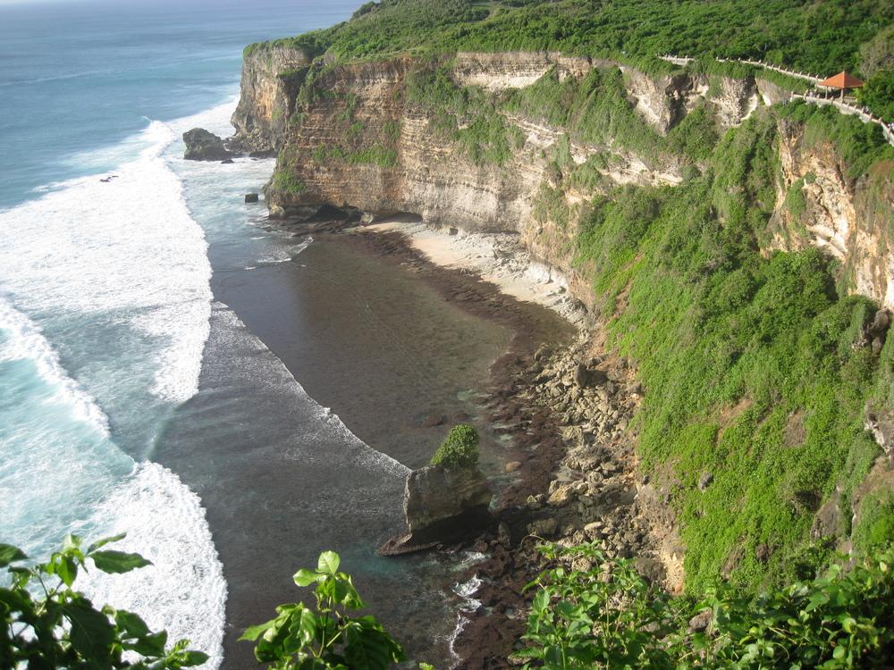 Paysage de falaise à Bali