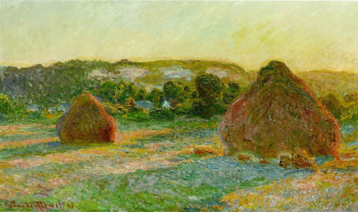 Claude Monet, Meules de foin, 1890-91, Art Institute of Chicago
