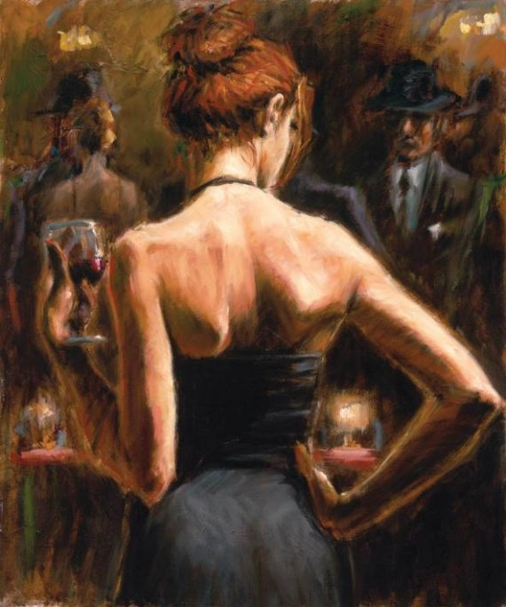 Fabian Perez, Girl with Red Hair