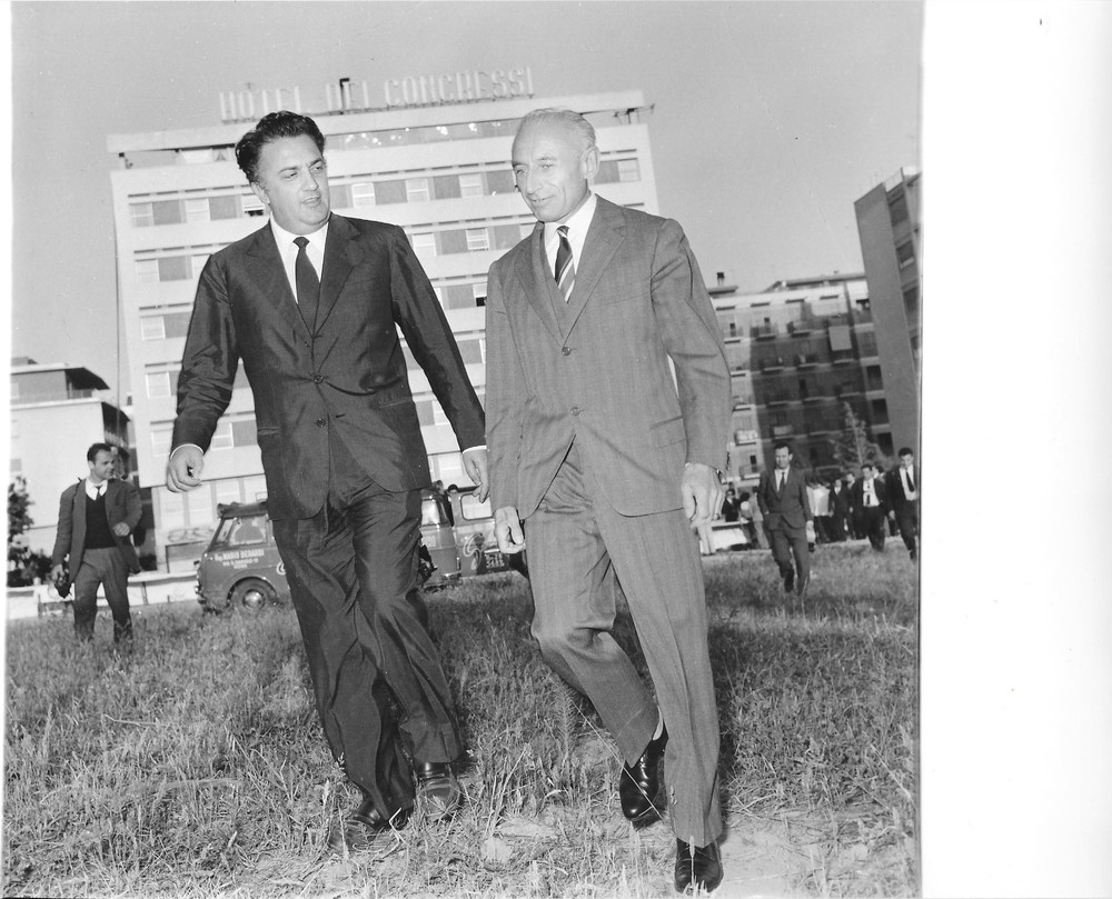 Federico Fellini et Tullio Pinelli, 1959